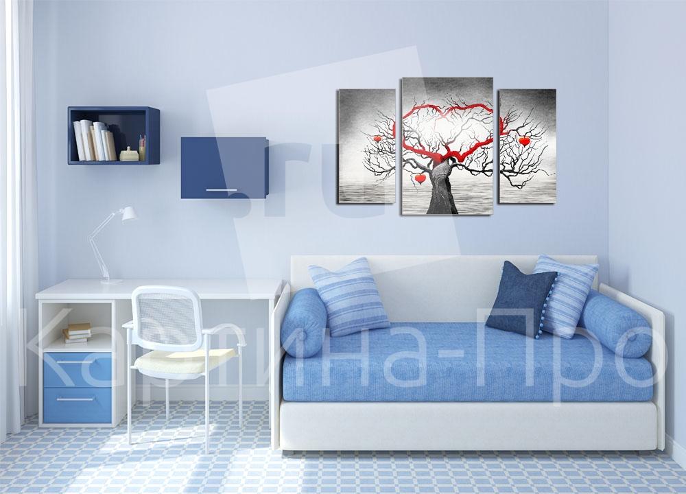 Модульная картина Древо любви от Kartina-Pro