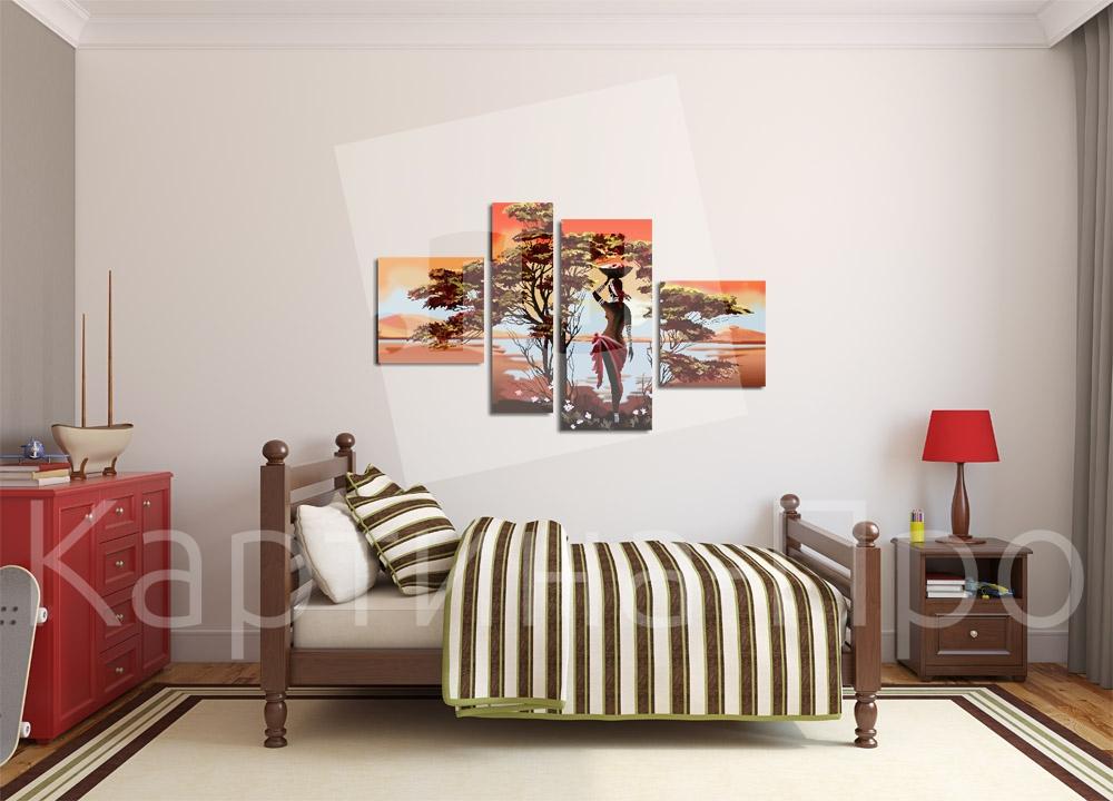 Модульная картина Красоты  Африки от Kartina-Pro