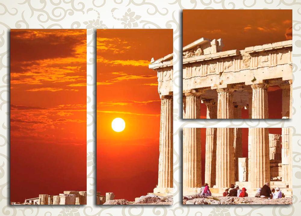 Модульная картина Закат в Афинах