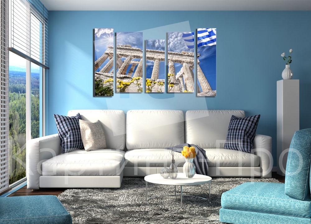 Модульная картина Небо над Акрополем от Kartina-Pro