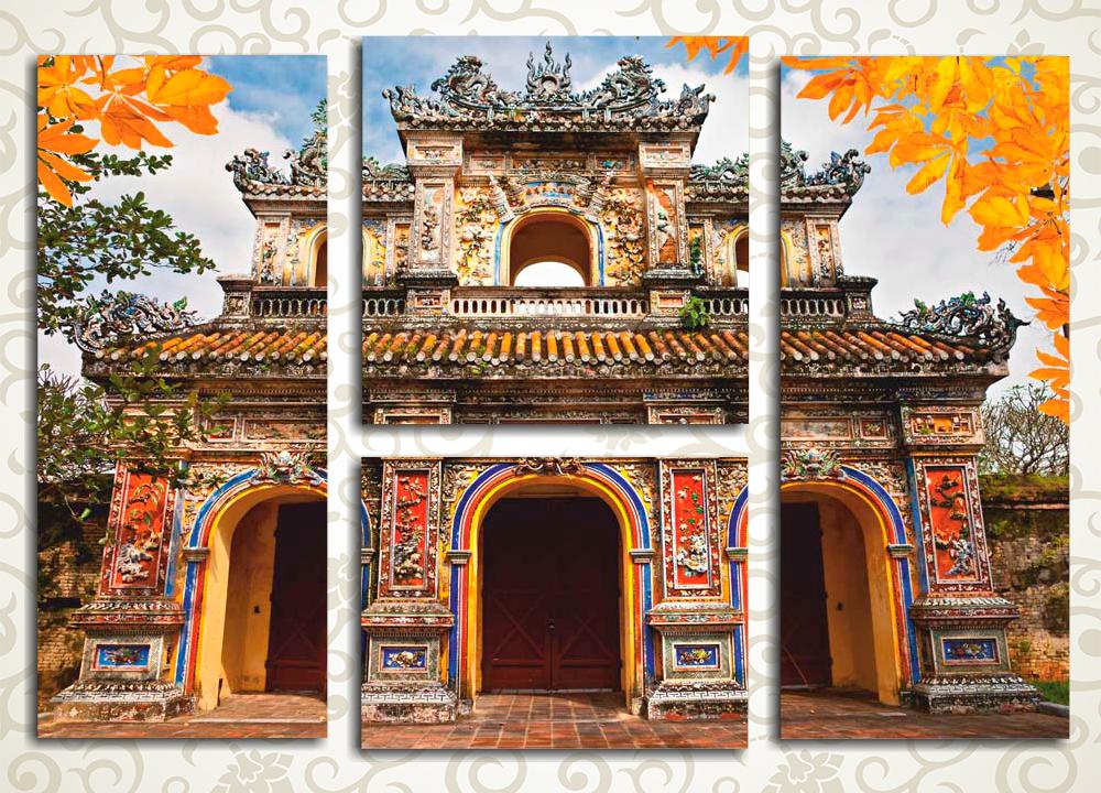 Модульная картина Красочная глубинка Вьетнама