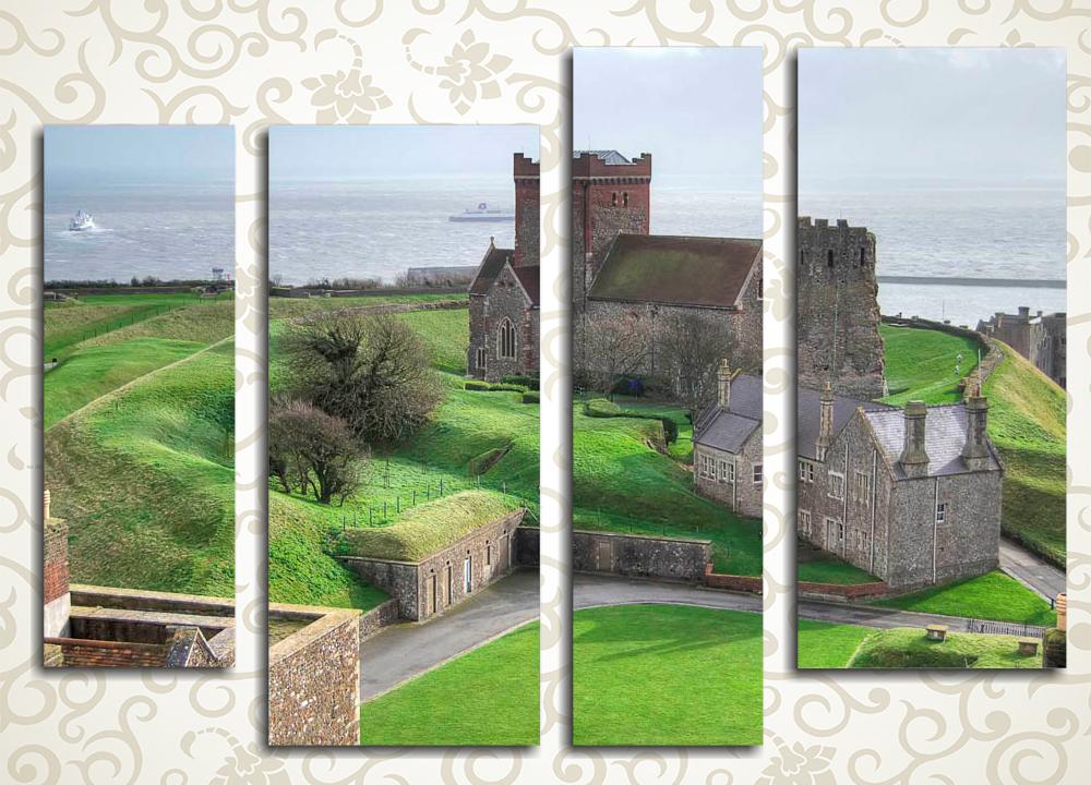 Модульная картина Старый английский замок