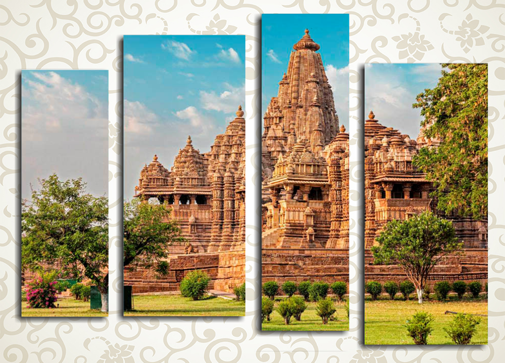 Модульная картина Великолепие индийского храма