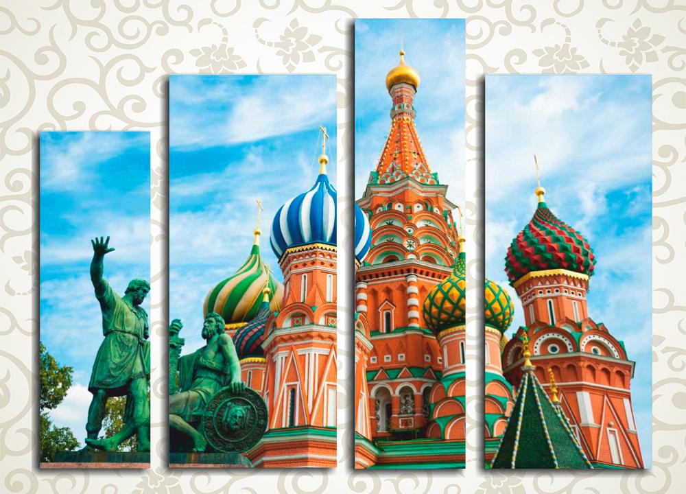 Модульная картина Храм Василия Блаженного, Москва