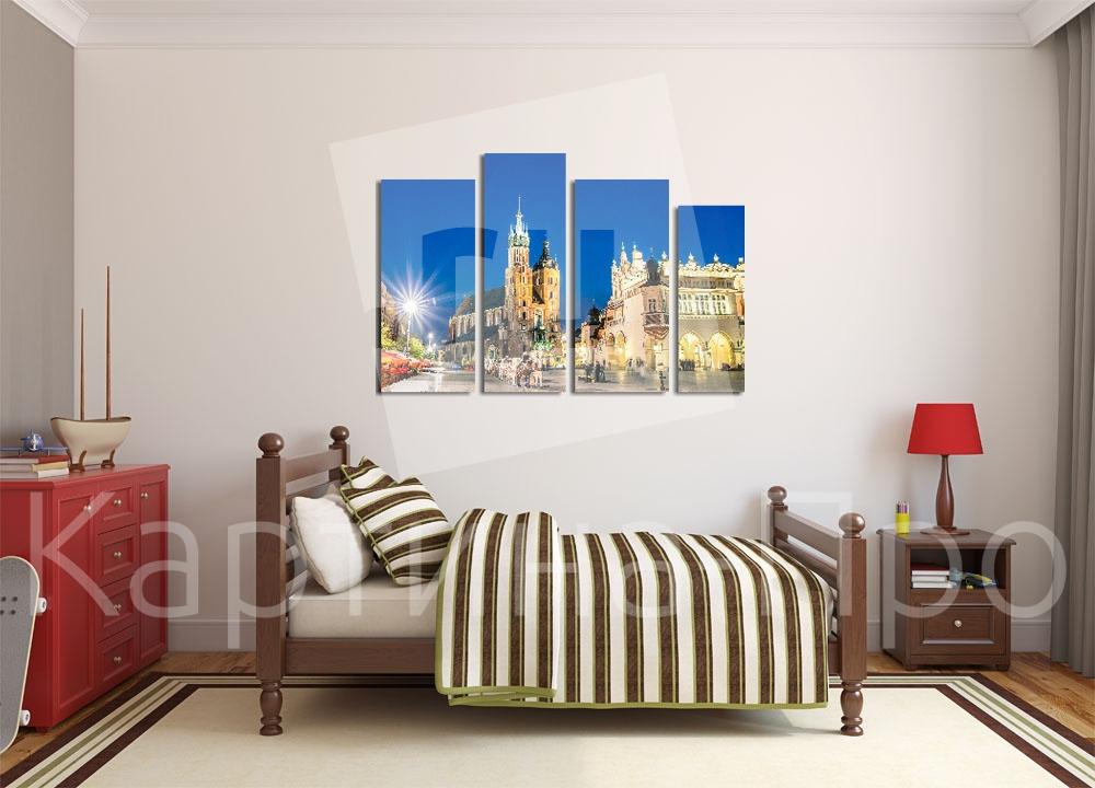 Модульная картина Вечерний европейский городок от Kartina-Pro