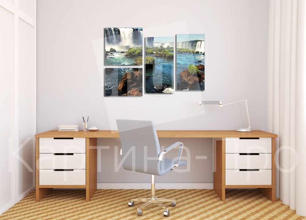 Модульная картина Водопад в раю от Kartina-Pro