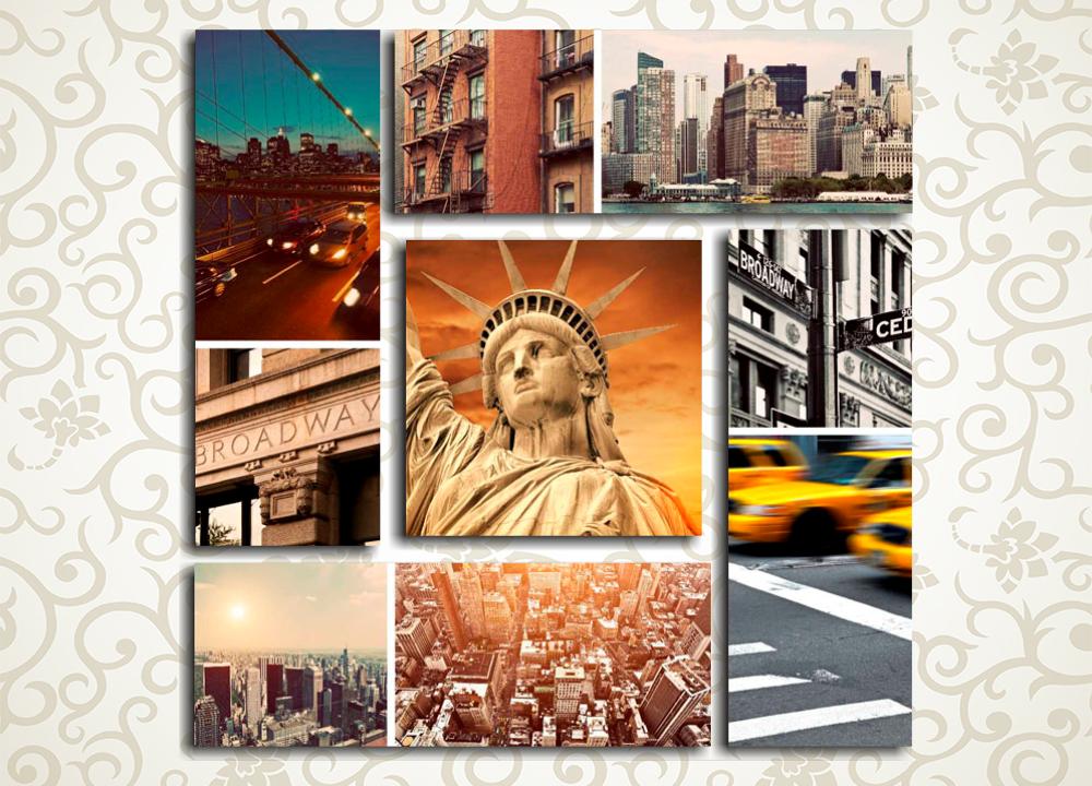 Модульная картина Обаяние Нью-Йорка
