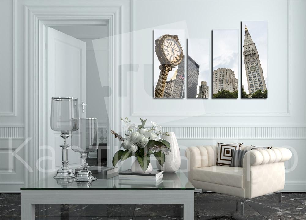 Модульная картина Часы большого города от Kartina-Pro