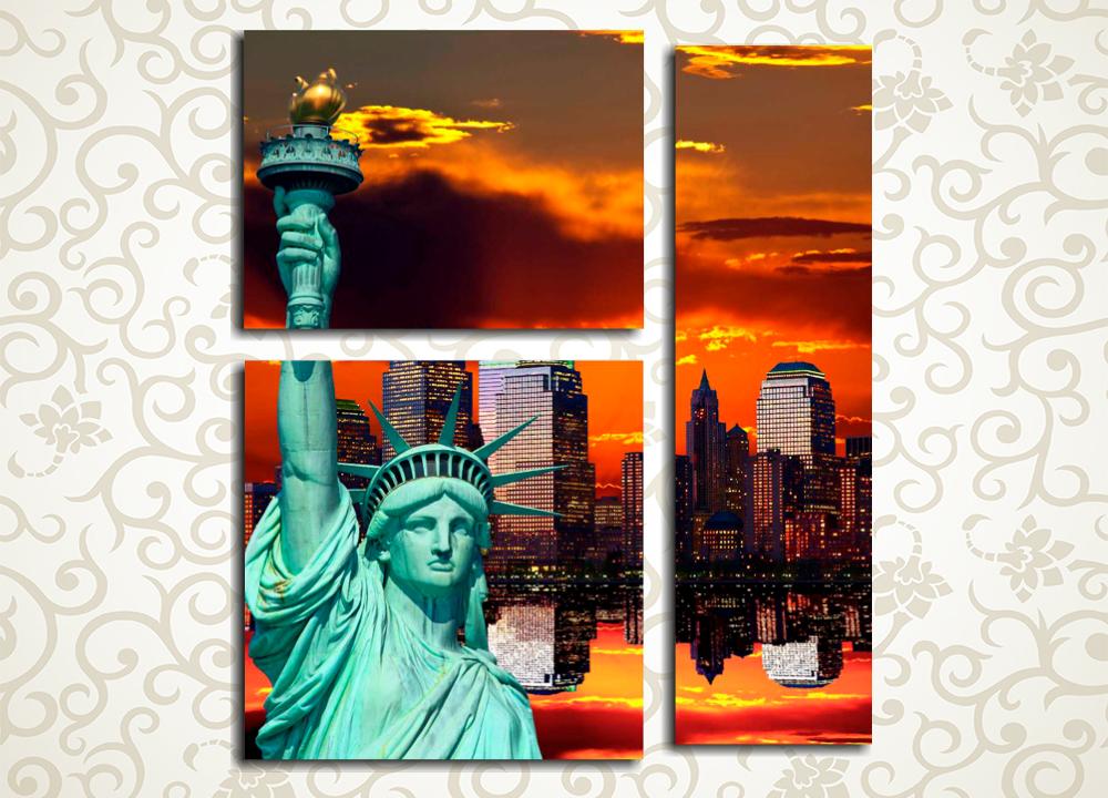 Модульная картина Статуя Свободы в Нью-Йорке