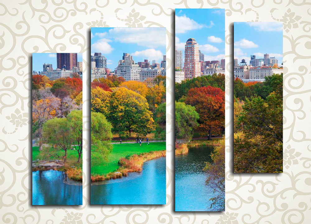 Модульная картина Осень в Нью-Йорке