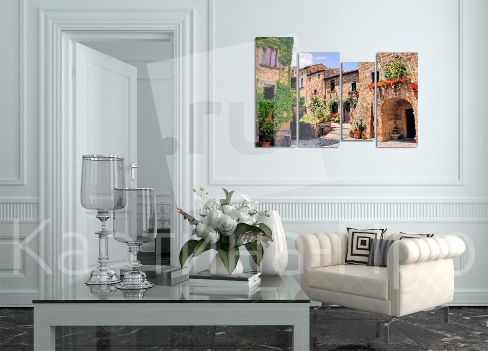 Модульная картина Живописный уголок Италии от Kartina-Pro