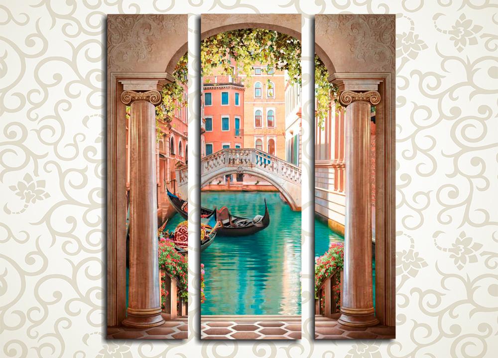 Модульная картина Весна в Венеции (Италия)