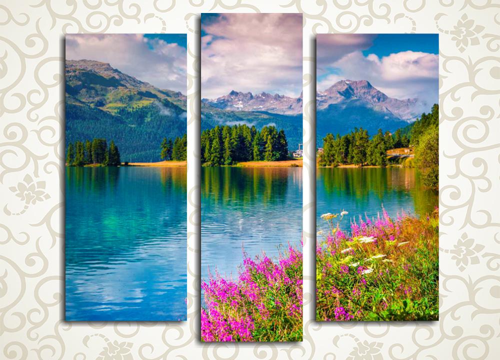 Модульная картина Красочное обаяние горного озера