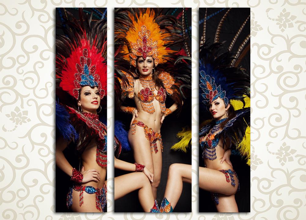 Модульная картина Карнавал в Рио