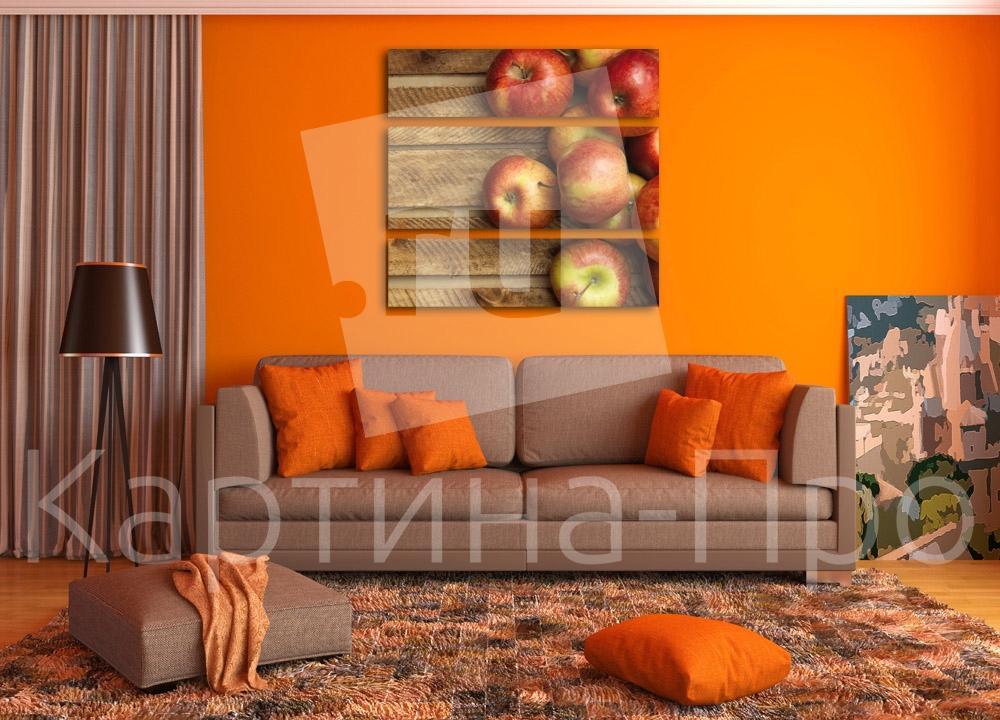 Модульная картина Красные яблоки от Kartina-Pro