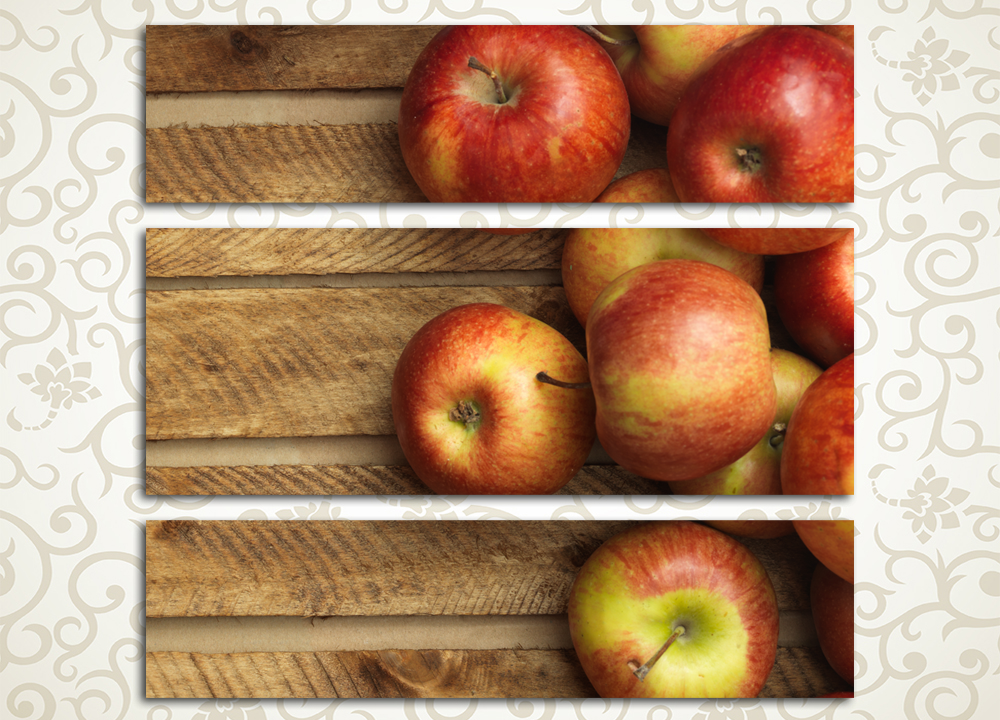 Модульная картина Красные яблоки