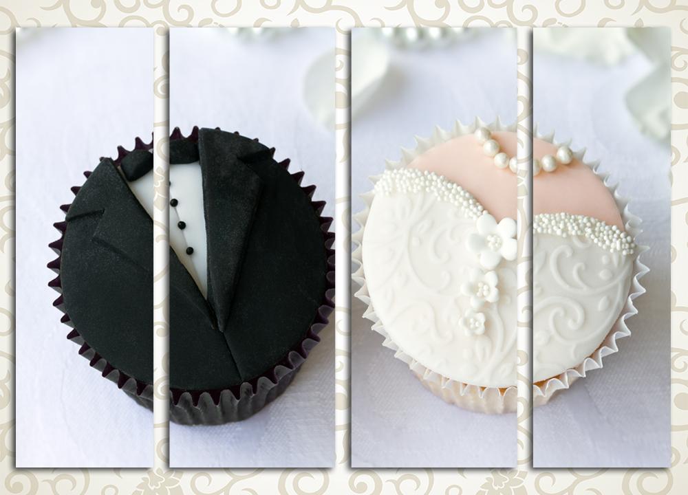 Модульная картина Свадебные сладости