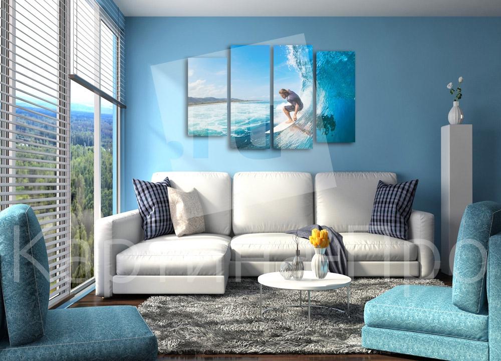 Модульная картина На гребне волны от Kartina-Pro