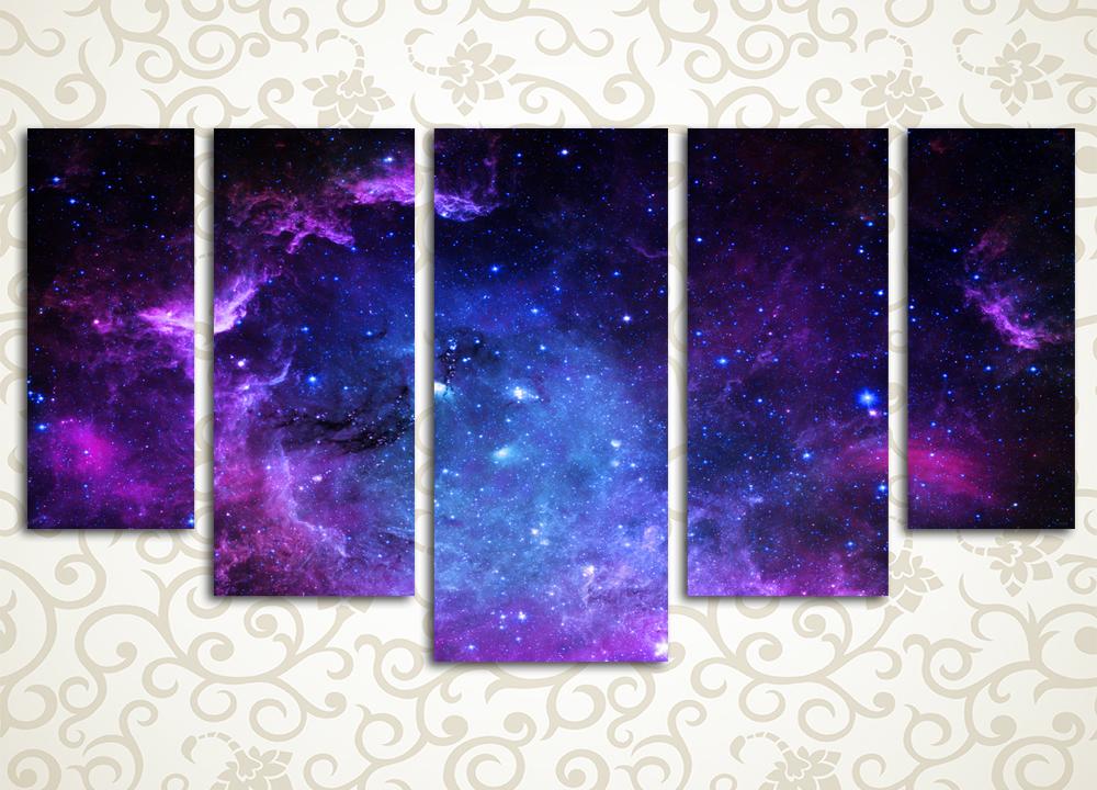 Модульная картина Звездная бесконечность