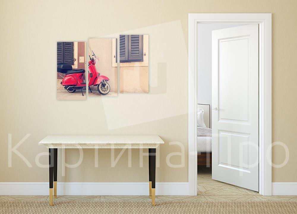 Модульная картина Красный скутер в Риме от Kartina-Pro