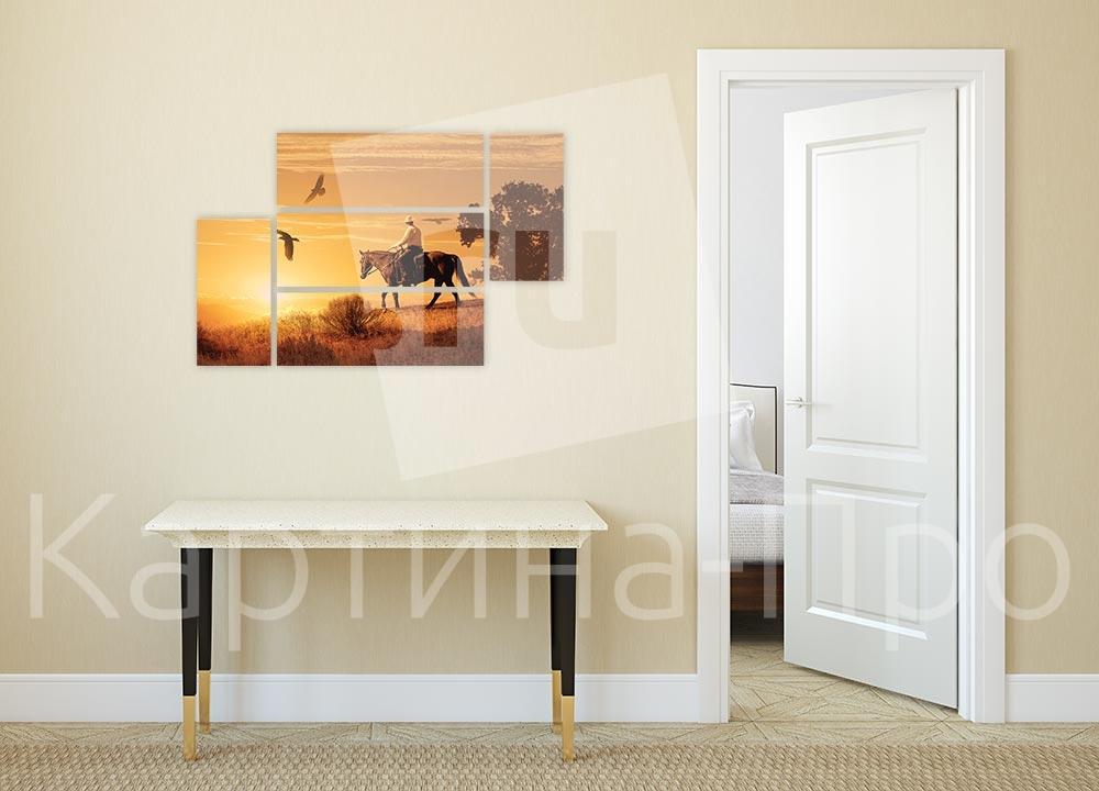 Модульная картина Прогулка на закате от Kartina-Pro