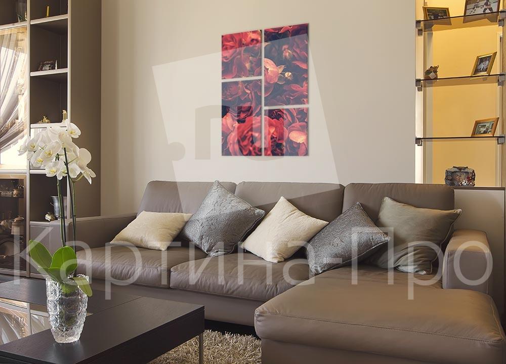 Модульная картина В цвете роз от Kartina-Pro
