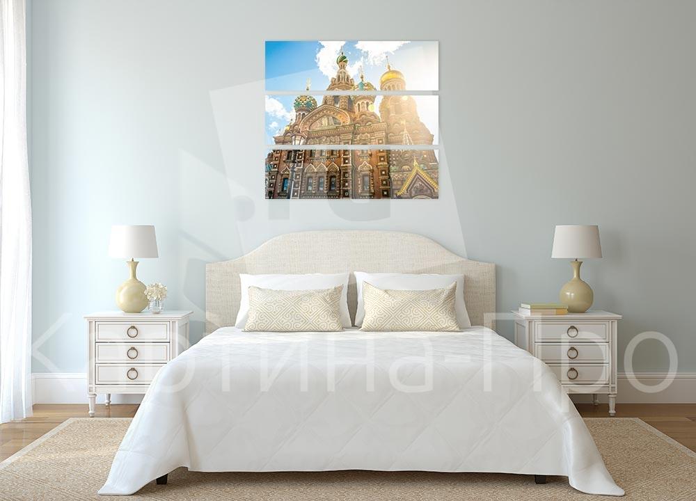 Модульная картина Рассвет над собором от Kartina-Pro