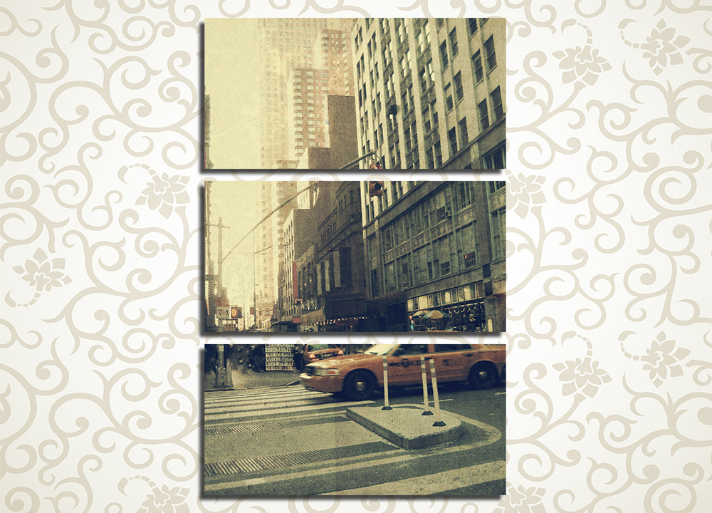Модульная картина Улица Нью-Йорка