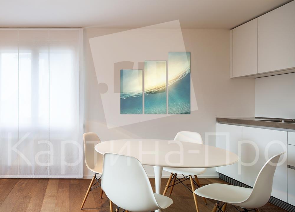 Модульная картина Отражение заката от Kartina-Pro
