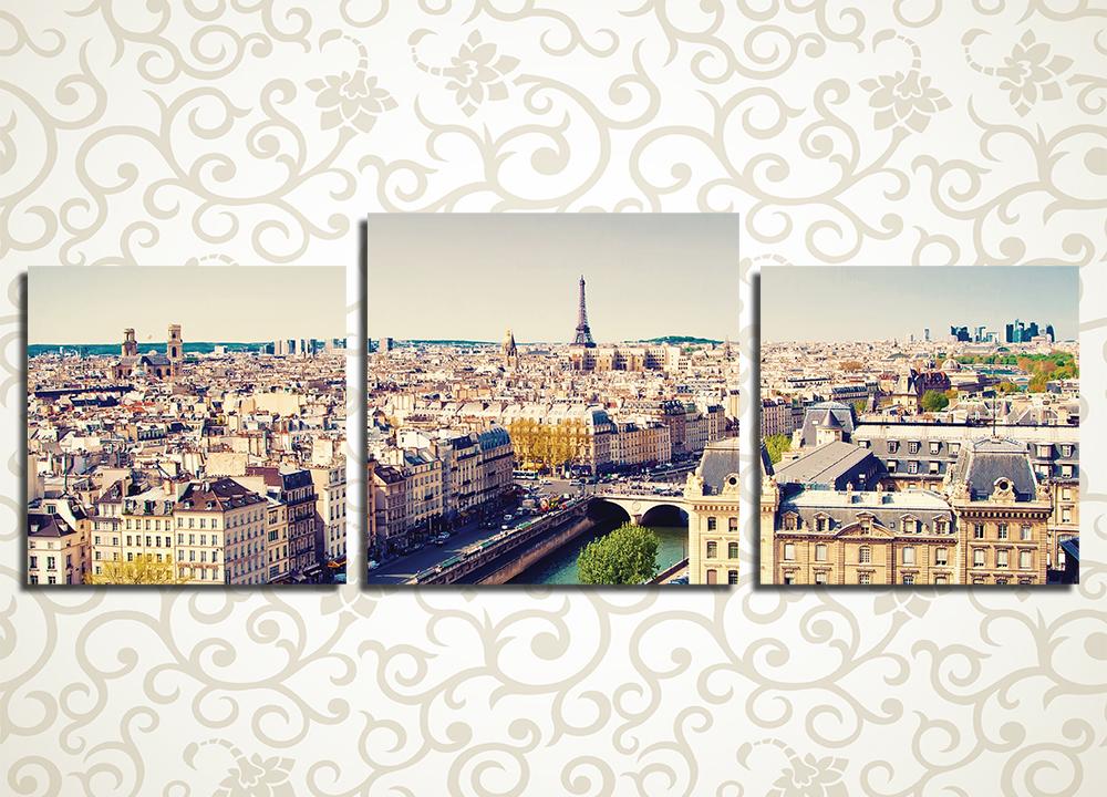Модульная картина Париж с  высоты птичьего полета