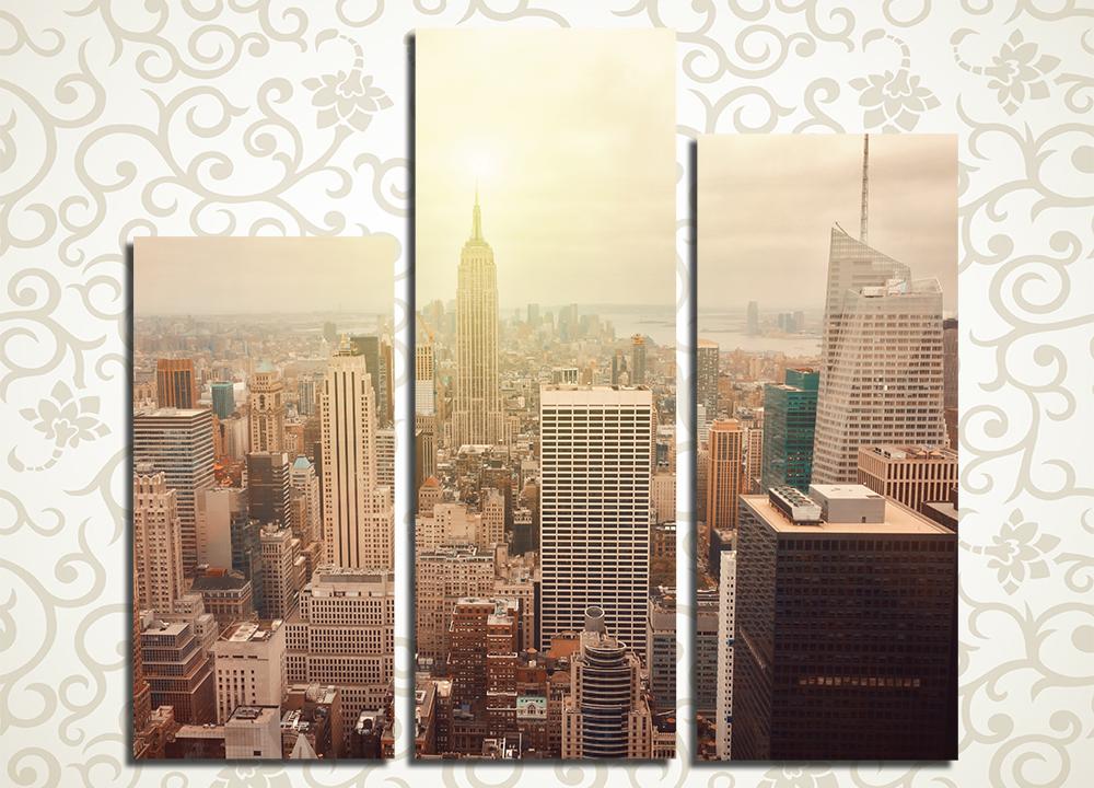 Модульная картина Рассвет над Манхэттеном