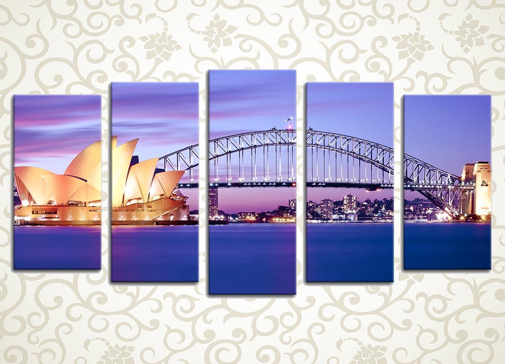 Модульная картина Вечер в Сиднее