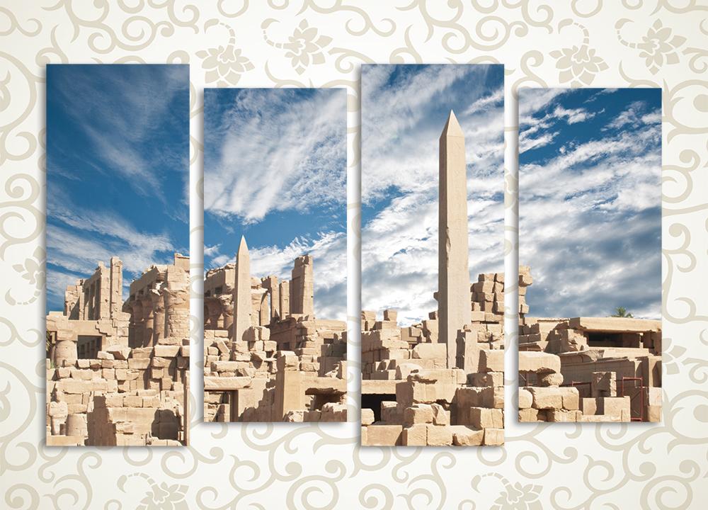 Модульная картина Небо над Карнакским храмом (Египет) от Kartina-Pro