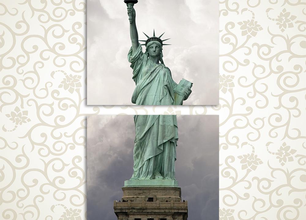 Модульная картина Статуя Свободы в Нью Йорке