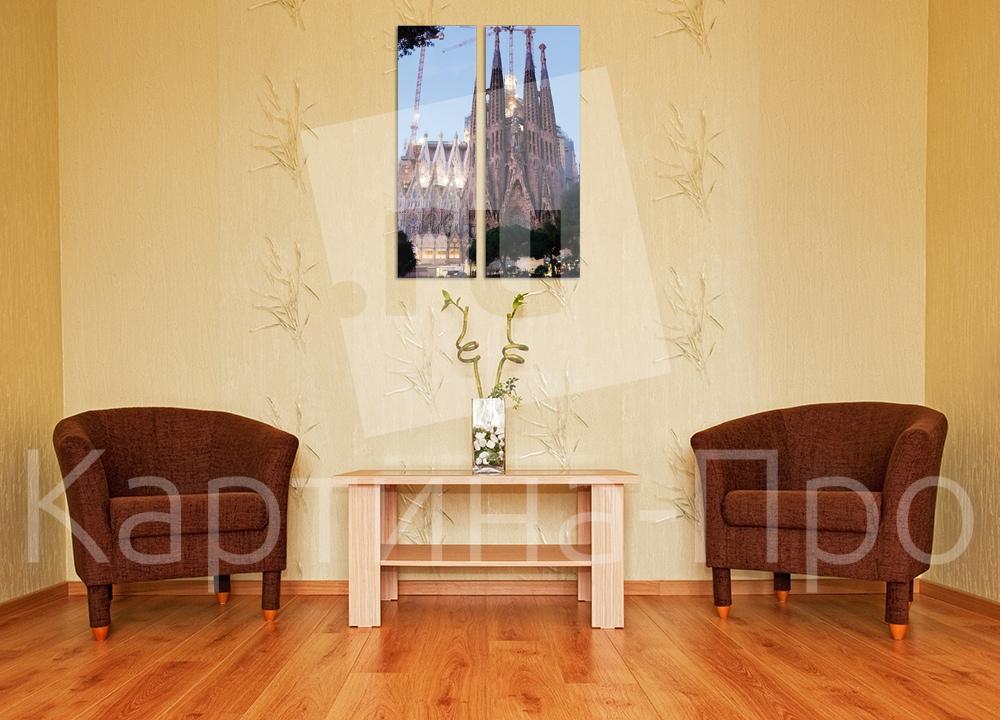 Модульная картина Великое творение Гауди. Барселона (Испания) от Kartina-Pro