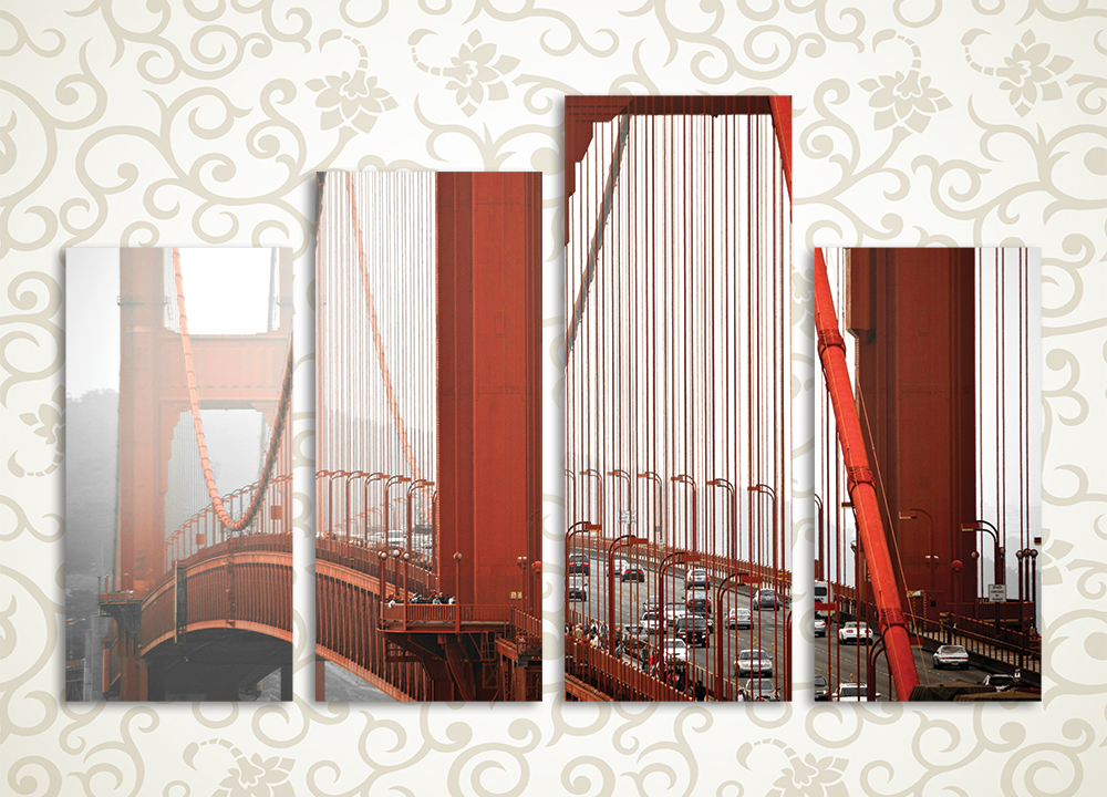 Модульная картина Вид на Золотые Ворота
