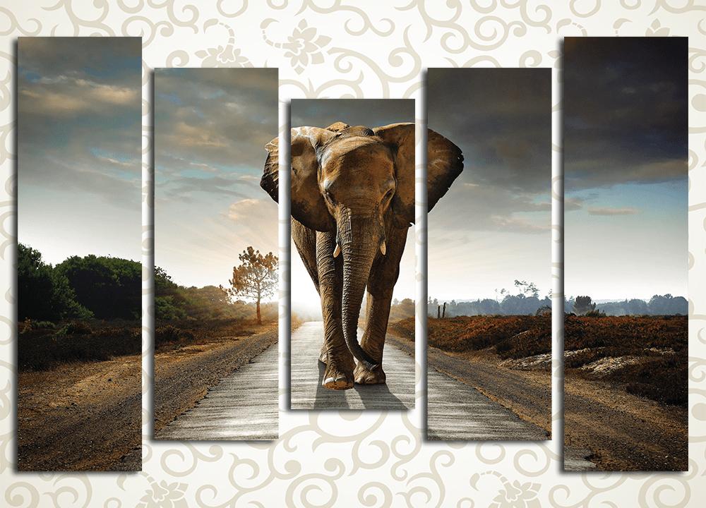 Модульная картина Величественный слон