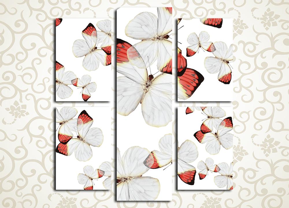 Модульная картина Романтичные бабочки