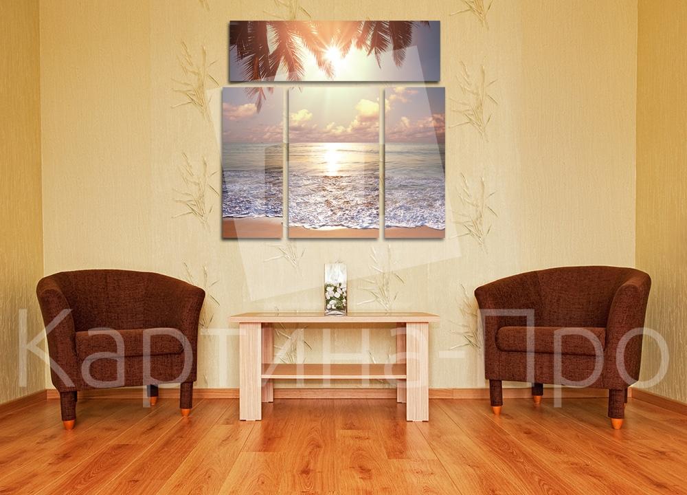 Модульная картина Рассвет у моря от Kartina-Pro