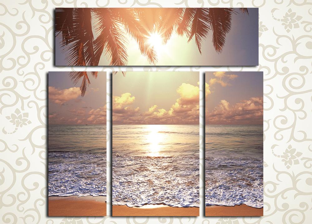 Модульная картина Рассвет у моря