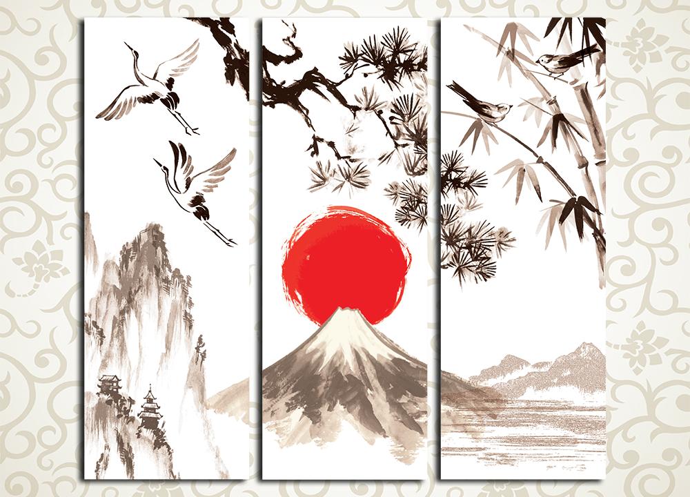 Модульная картина Японские мотивы