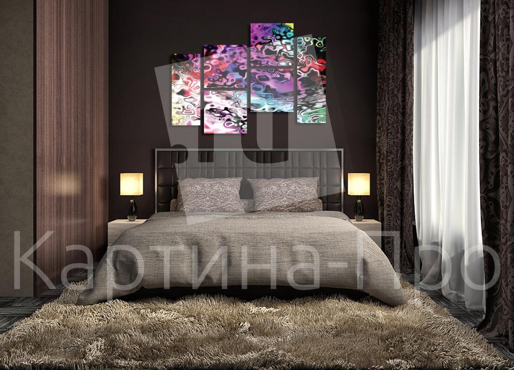 Модульная картина Красочные пятна от Kartina-Pro