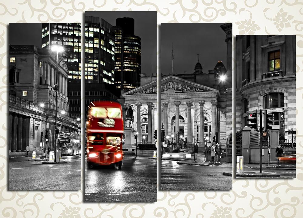 Модульная картина Лондонский автобус