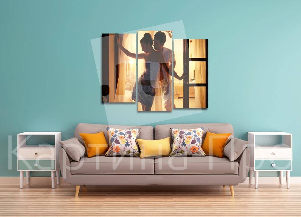 Модульная картина Пара влюбленных от Kartina-Pro
