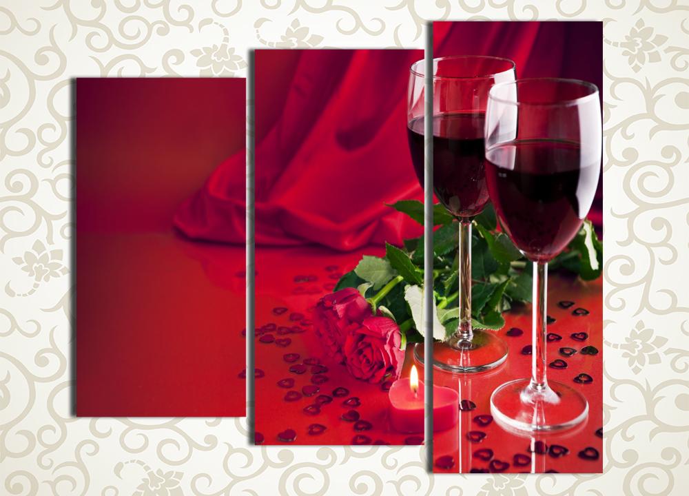 Модульная картина Романтический вечер