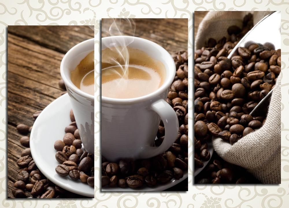Модульная картина Кофейное наслаждение