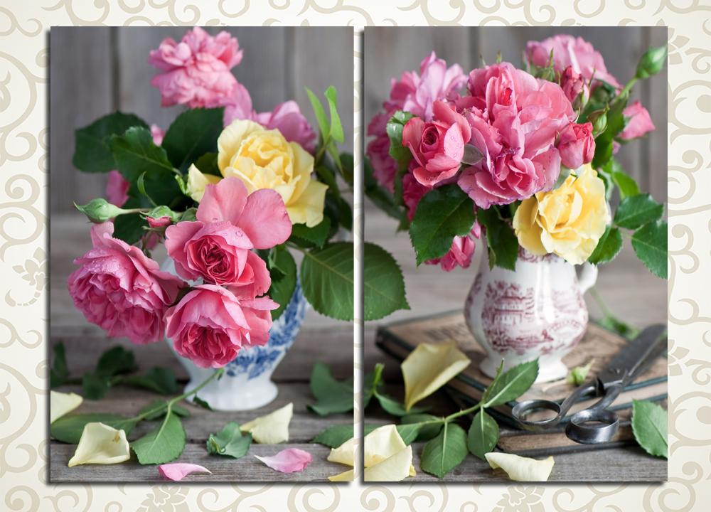 Модульная картина Два букета цветов