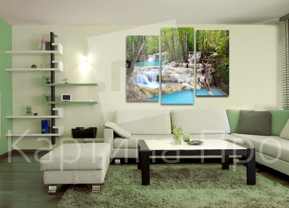 Модульная картина Водопад в лесу от Kartina-Pro