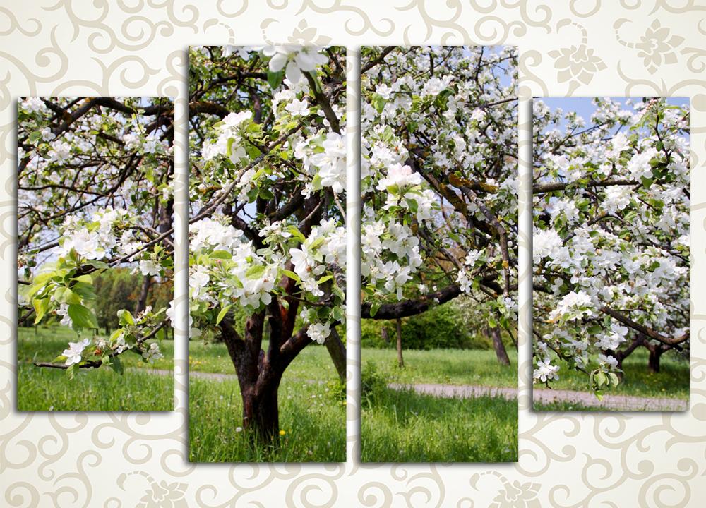 Модульная картина Весенний день