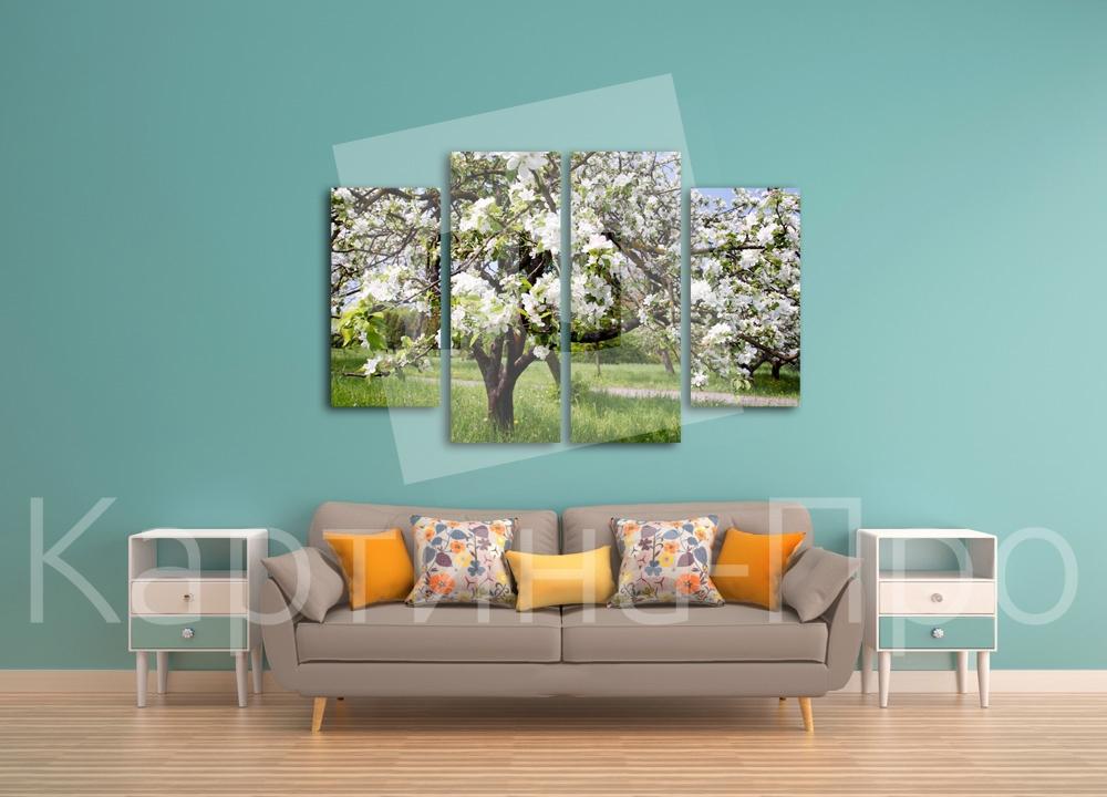 Модульная картина Весенний день от Kartina-Pro